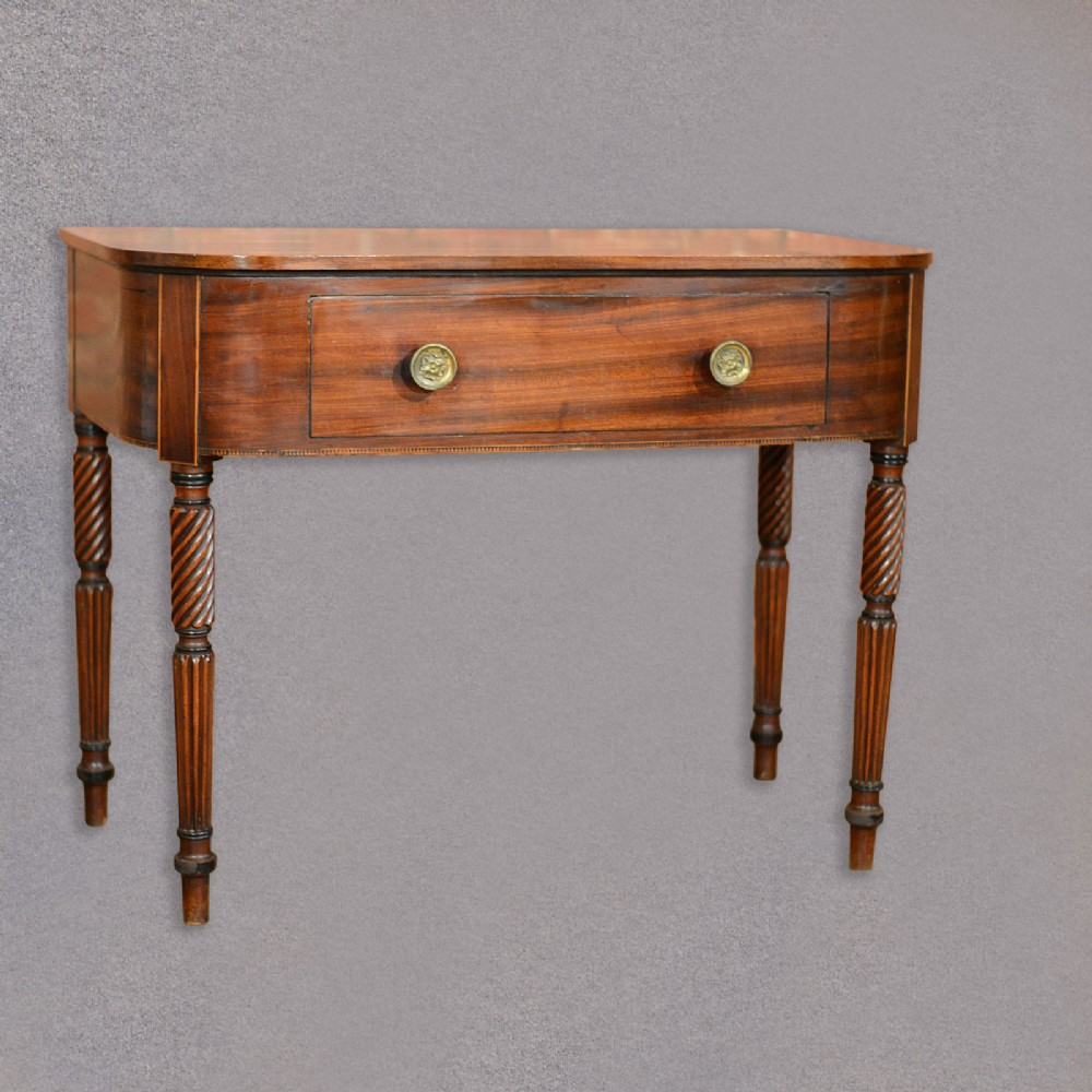 antique regency side table mahogany console desk english library hall c1830 346847. Black Bedroom Furniture Sets. Home Design Ideas
