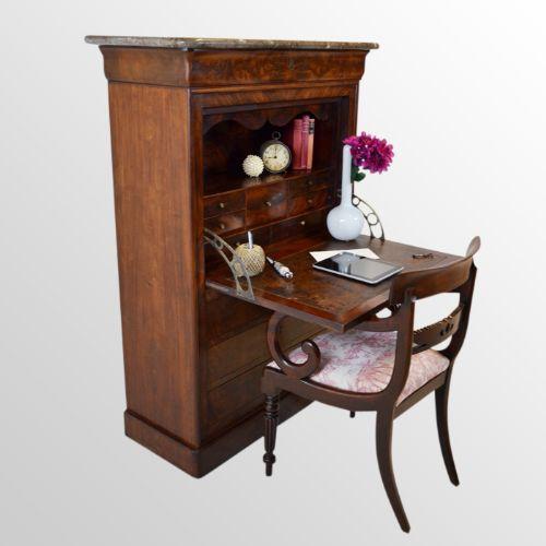 antique secretaire bureau cabinet french secretary chest drawers desk c1870 177482. Black Bedroom Furniture Sets. Home Design Ideas