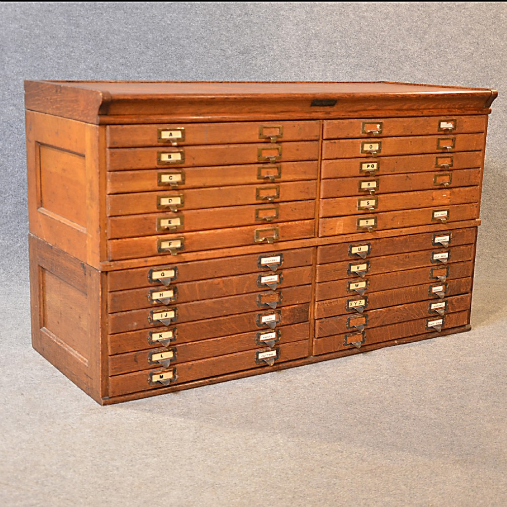 Antique specimen collector cabinet oak plan chest drawers for Kitchen drawers for sale