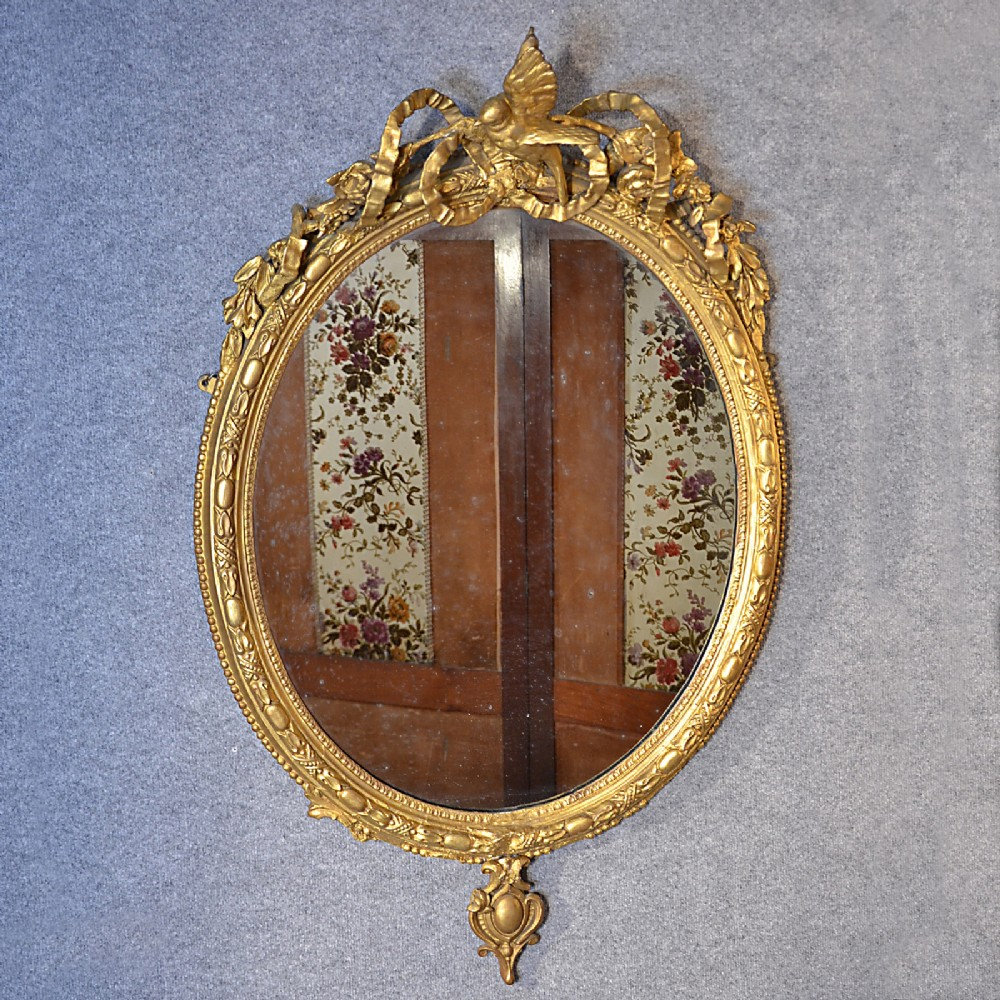 Antique wall mirror english victorian ornate gilt gesso for Antique looking wall mirrors