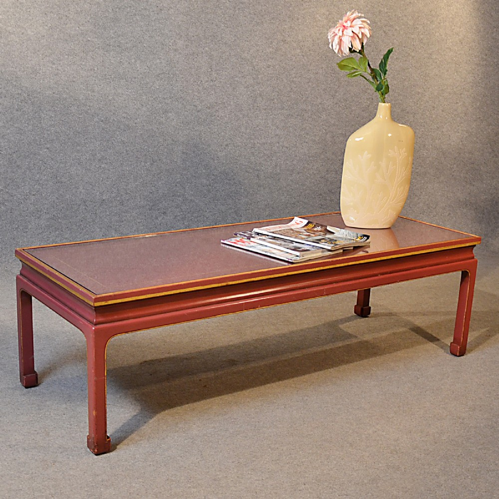 Coffee Table Low Sofa Magazine Lounge Table Oriental Asian Glass Art Deco 257606