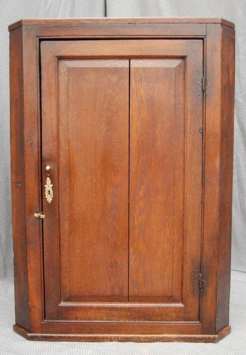 oak corner cupboard cabinet case antique hanging c1840 - Oak Corner  Cupboard Cabinet Case Antique Hanging - Antique Hanging Corner Cupboard Antique Furniture