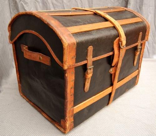 Leather Travel Trunk Luggage Suitcase Vintage English | 92299 ...