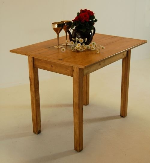 Beau Kitchen Dining Farmhouse Table Small Antique Pine Waxed