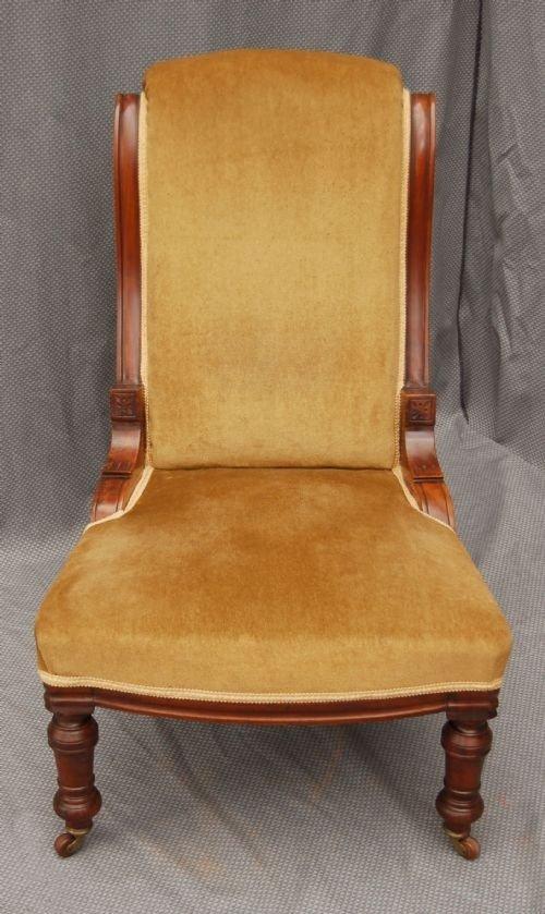 antique nursing chair salon armchair victorian castors 92840. Black Bedroom Furniture Sets. Home Design Ideas
