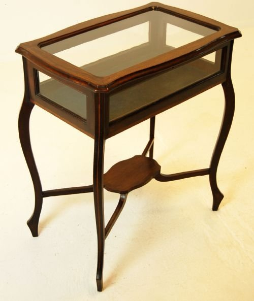 bijouterie display case table cabinet inlaid antique | 93861