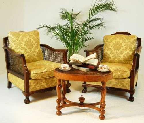 pair antique armchairs caned bergere club chair c1900 100226