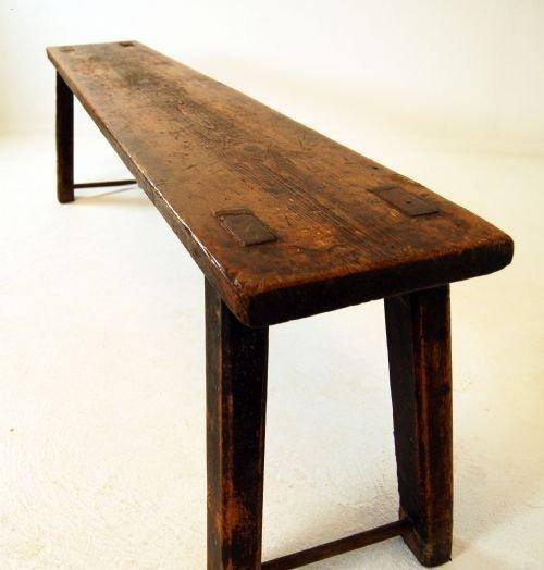 victorian antique elm bench seat sofa kitchen farmhouse