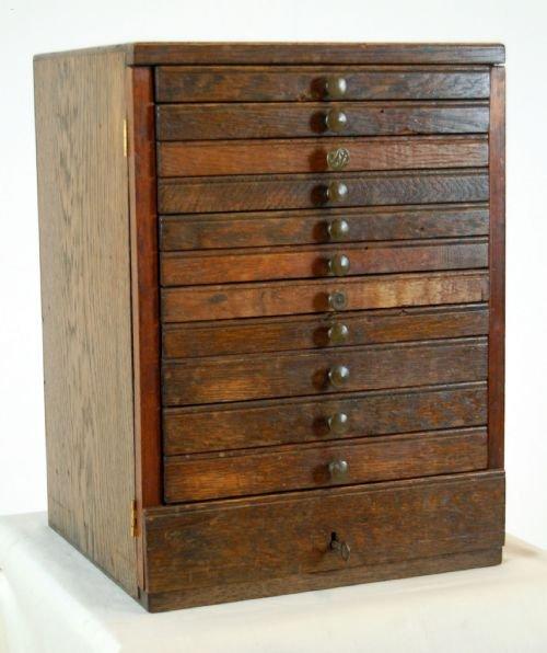 antique specimen collectors cabinet chest of 12 drawers - Antique Specimen Collectors Cabinet Chest Of 12 Drawers 104245