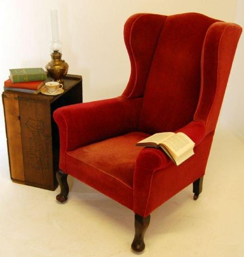 Victorian Wingback Antique Armchair Chair Castors C1880 ...