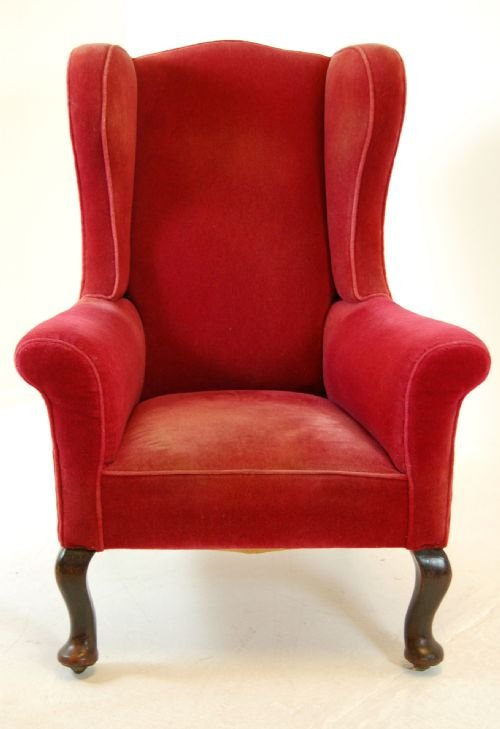 Victorian Wingback Antique Armchair Chair Castors C1880 | 104534 |  Sellingantiques.co.uk
