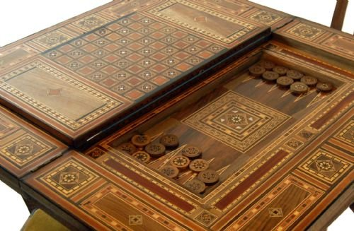Games Card Table Bridge Backgammon Chess Antique Poker | 109574 |  Sellingantiques.co.uk