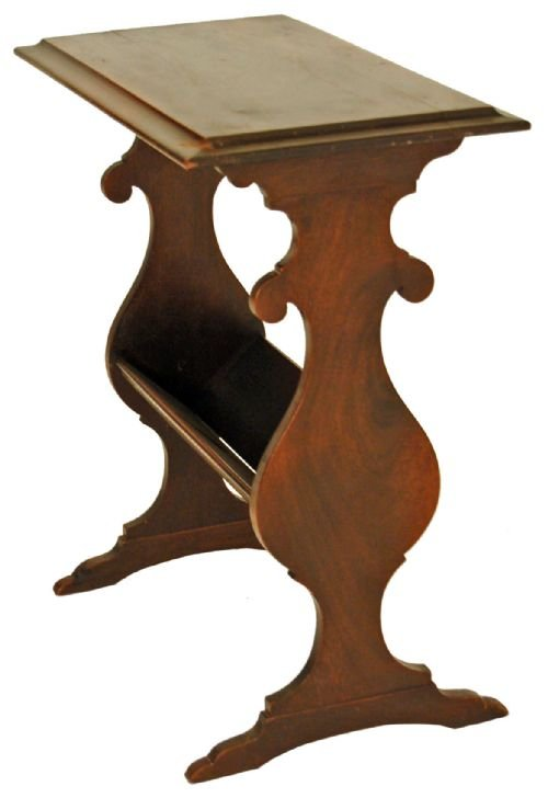 occasional Side Table Magazine Rack Book Shelf Antique ...