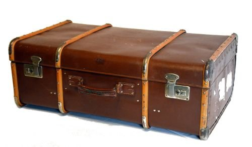 shipping trunk travel case luggage suitcase