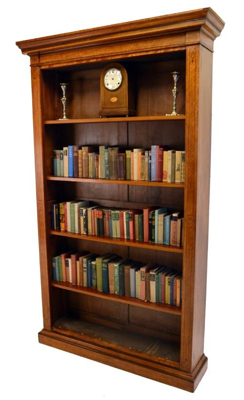 tall open bookcase library shelves antique satin wood 114829 rh sellingantiques co uk