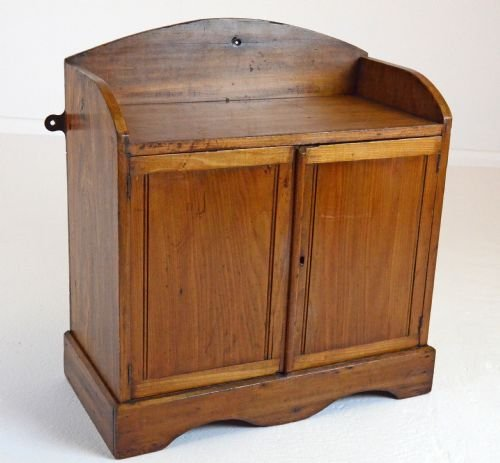 small antique pine cabinet cupboard with shelf c1900 - Small Antique Pine Cabinet Cupboard With Shelf C1900 118142
