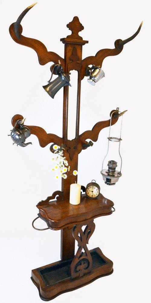 case furniture shelves l hat rack antique pieces coat or org italian f for renaissance walnut cherub id sale storage