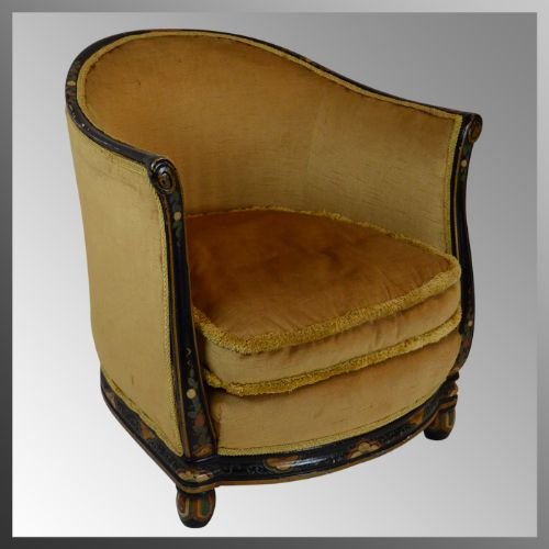 art deco antique tub armchair club lounge chair c1920original mahogany  framed classic deco styling shape - Art Deco Antique Tub Armchair Club Lounge Chair C1920 Original