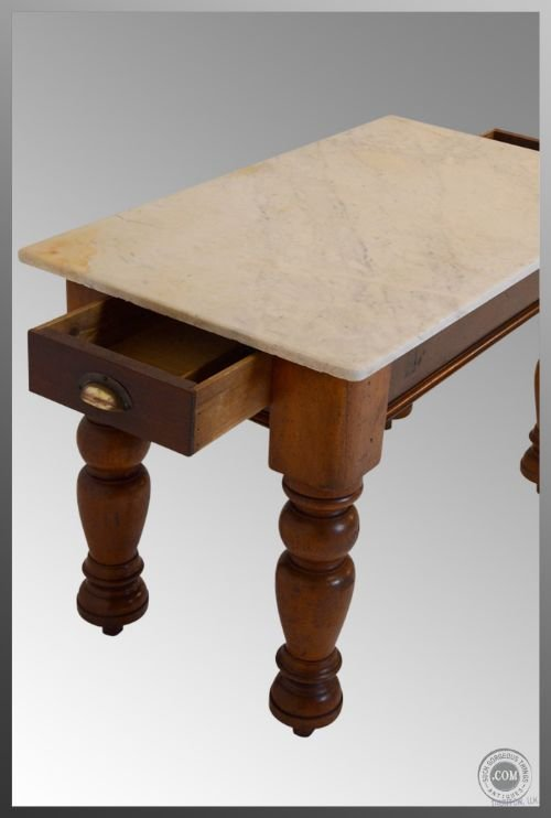 marble antique kitchen utility pantry prep side tabletwin drawer ideal surface to prep meat veg dough pastry - photo angle #4