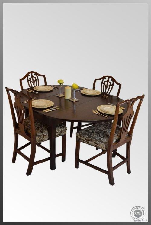 Oval Drop Leaf Gate Leg Folding Dining Table Antique 124929 Sellingantiqu