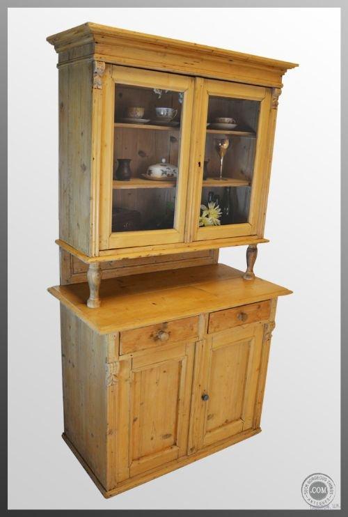 Antique victorian pine kitchen dresser cabinet c1870 for Antique pine kitchen cabinets