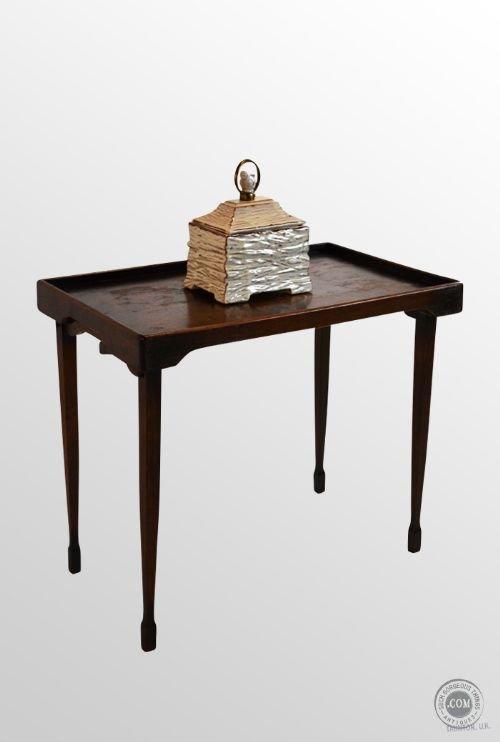 Delicieux Vintage Oak Folding Butler Tray Table Maids Serving Stand Antique C1910