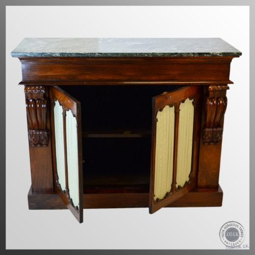 regency antique rosewood marble top chiffonier cabinet c1820 - photo angle #4