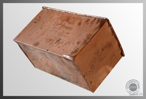 antique copper kindling wood log coal fireside bin c1890 - photo angle #3