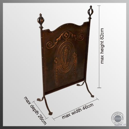 antique art nouveau jugendstil sezessionstil copper fire screen guard c1900 - photo angle #2