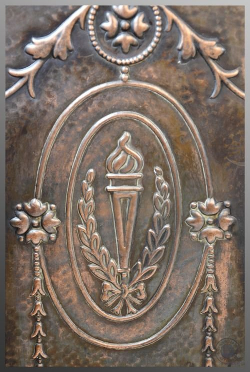 antique art nouveau jugendstil sezessionstil copper fire screen guard c1900 - photo angle #3