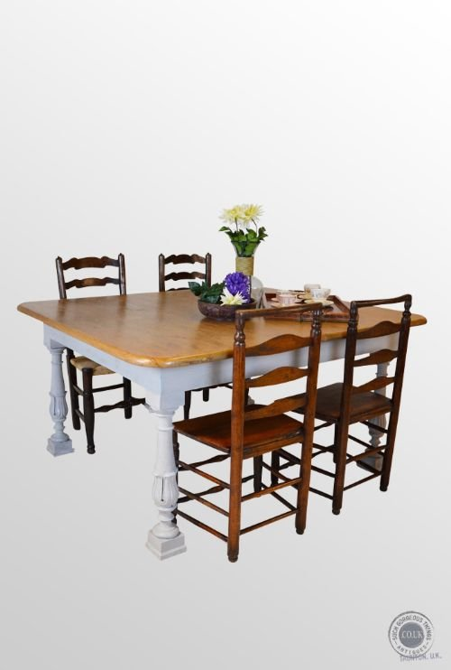 antique pine large kitchen dining table 6 8 seater superb condition 159292 sellingantiques. Black Bedroom Furniture Sets. Home Design Ideas