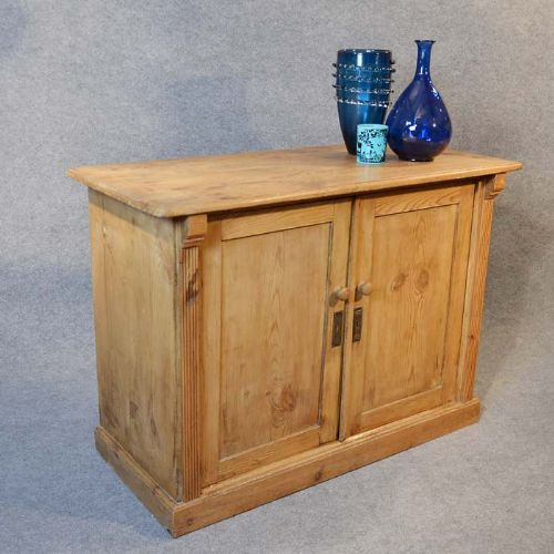 antique original victorian pine cabinet twin door cupboard chiffionier c1880 - Antique Original Victorian Pine Cabinet Twin Door Cupboard
