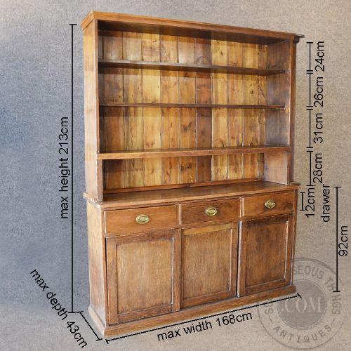 Antique victorian pine dresser welsh country kitchen for Antique pine kitchen cabinets