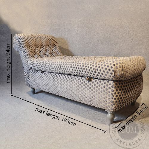 Antique chaise longue sofa couch settee victorian day bed for Chaise longue double sofa bed