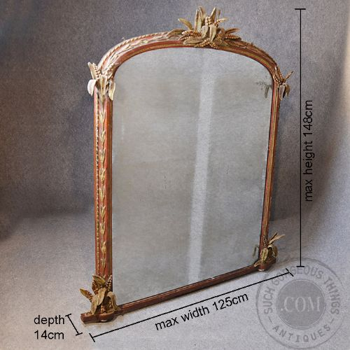 Antique large wall mirror overmantle ornate regency for Looking for wall mirrors