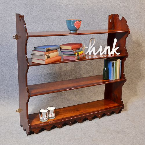 Antique Bookcase Display Shelves Open Wall Cabinet Victorian What ...