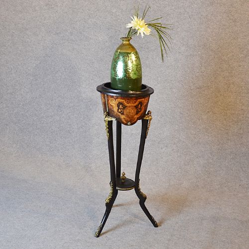 antique french plant stand pot jardiniere gilt metal. Black Bedroom Furniture Sets. Home Design Ideas