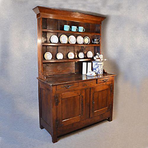 French Kitchen Dresser: Antique French Elm Country Welsh Dresser Display Kitchen