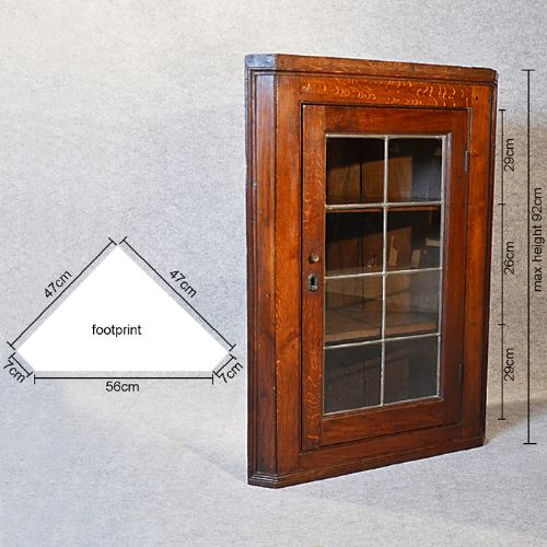 Antique Corner Cupboard Glazed Wall Display Cabinet English Oak Victorian  C1880 | 227466 | Sellingantiques. - Antique Corner Wall Cabinet Antique Furniture
