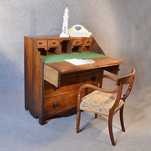 antique georgian writing bureau large english oak desk chest c1750 230110. Black Bedroom Furniture Sets. Home Design Ideas