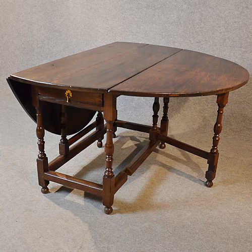 5 39 oak gate leg table kitchen dining farmhouse gateleg with drawer c1800 236720 - Gateleg table with drawers ...