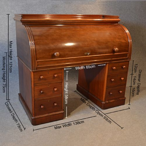 Antique Fine Victorian Writing Bureau Large English