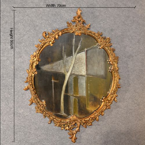 Antique wall mirror victorian ornate gilt wood looking for Antique looking wall mirrors