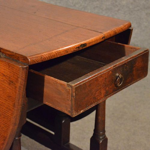 Antique oak dining kitchen table with drawer gate leg drop leaf victorian c1900 358052 - Gateleg table with drawers ...