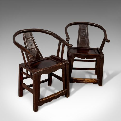 London Fine Antiques · FOUR CHINESE LACQUERED HARDWOOD SIDE CHAIRS .