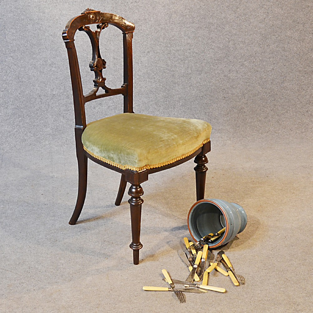 Antique Dining Side Office Desk Study Chair English Victorian