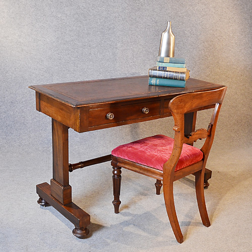 furniture and things antique desk leather top writing library 10562