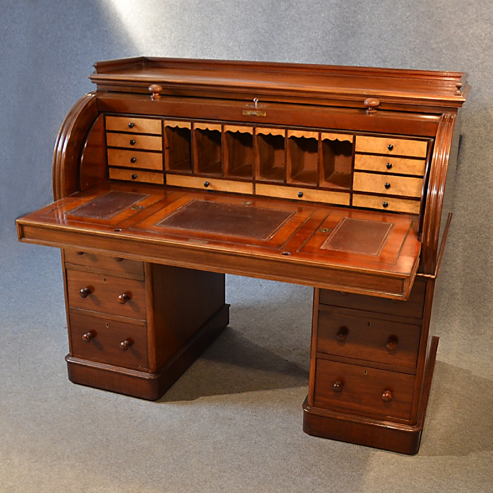 Vintage Writing Desk ~ Antique fine victorian writing bureau large english