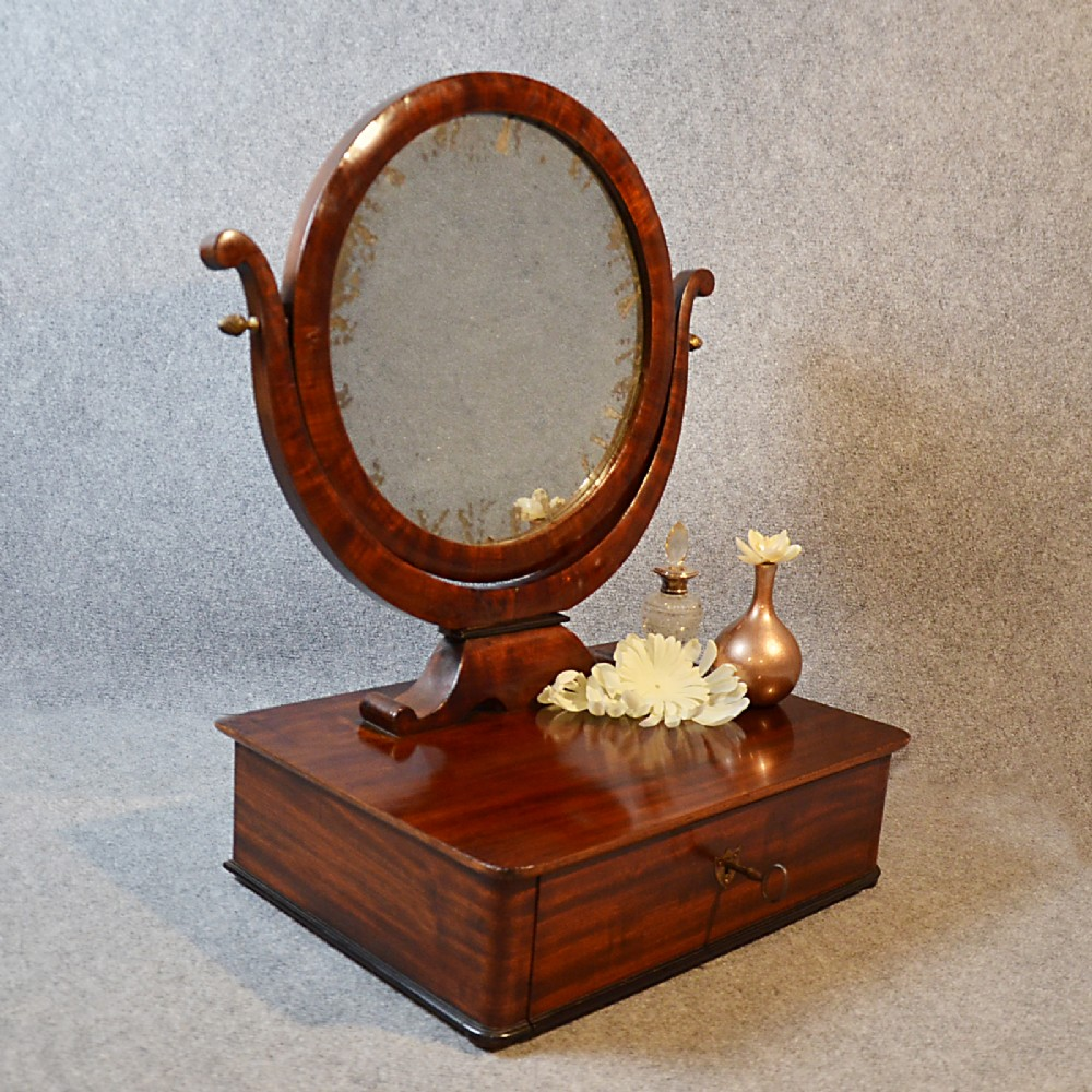 antique mirror georgian jewelry box dressing vanity swing