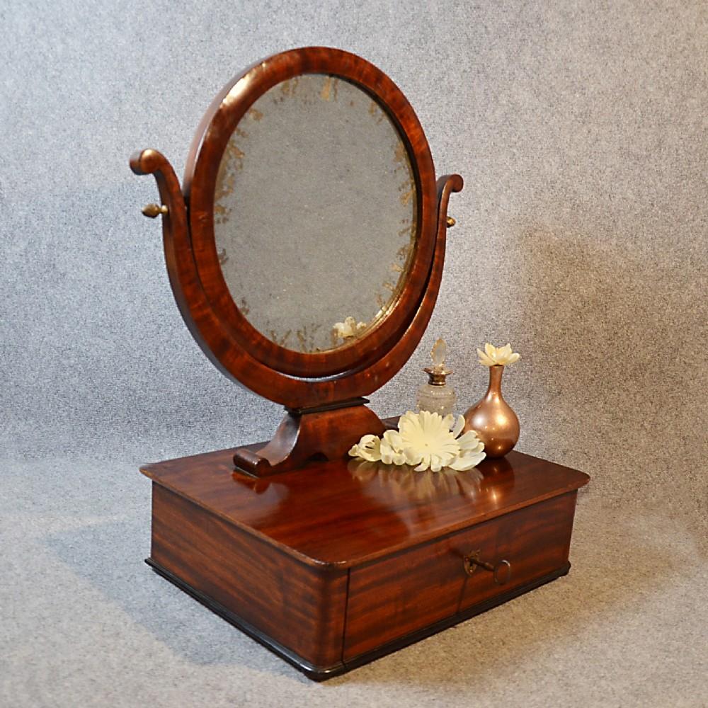 antique mirror georgian jewelry box dressing vanity swing
